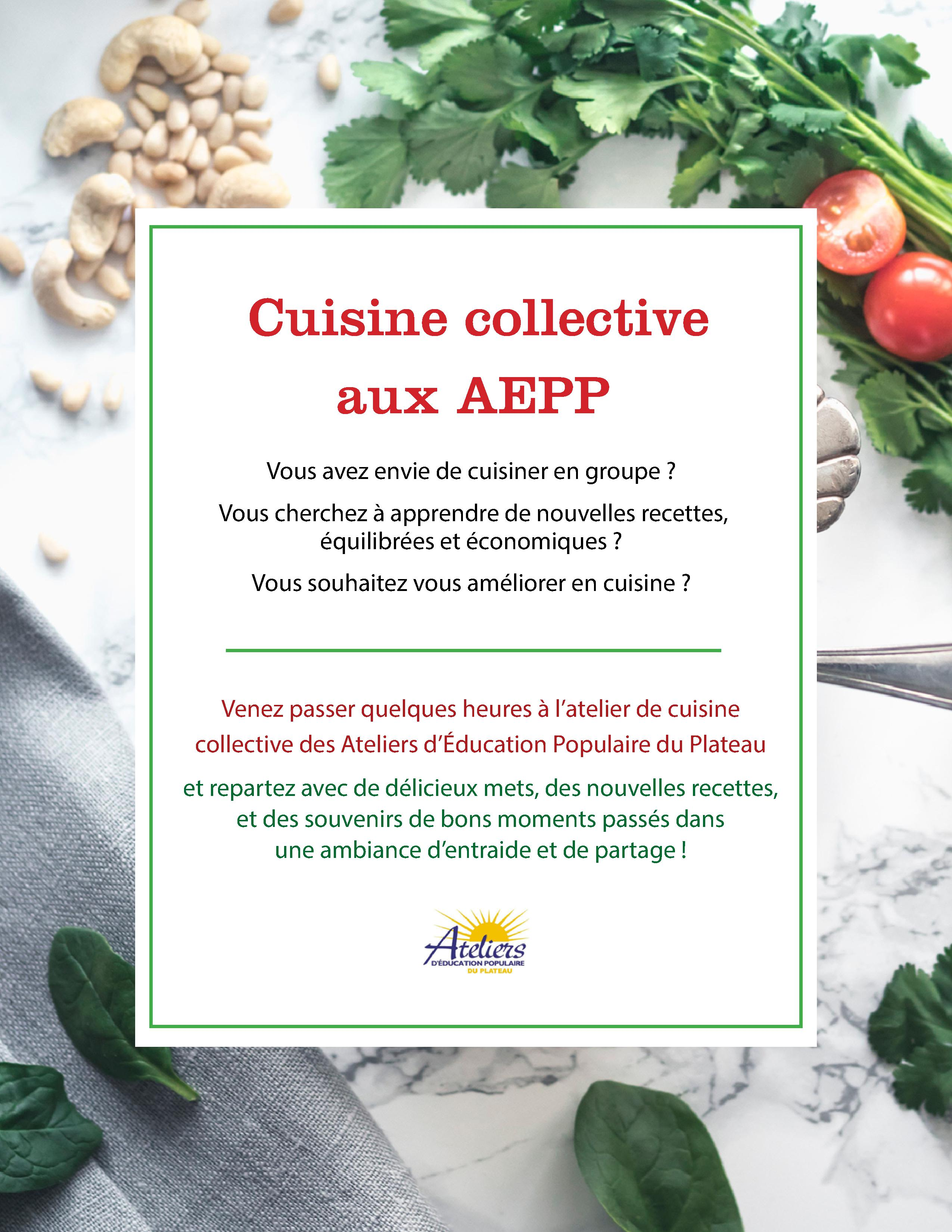 Affiche cuisine collective